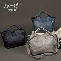 Кожаная женская сумка из воловьей кожи 3 цвета