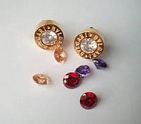 Серьги bvlgari с сменными камнями (золото)