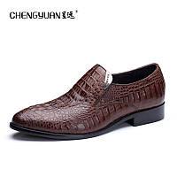 крокодил кожаные бизнес мужская обувь туфли ручной работы