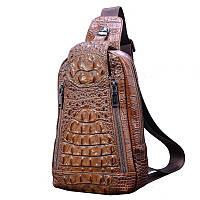 Винни. Крокодиловая кожа мужская сумка свободного покроя наплечная 5 цветов