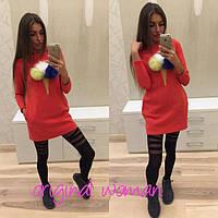 Платье утепленное Мороженое красное , платья интернет