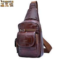 Винни. Натуральная кожа мужская сумка ретро Диагональ 4 цвета, фото 1