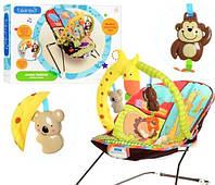 Детский Шезлонг -качалка для новорожденного от 0 до 4лет
