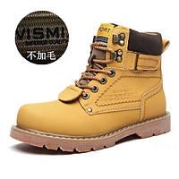 Зимняя пара Мартин сапоги мужские кожаные ботинки снега плюс бархат хлопок обувь британской армии сапоги большая голова обуви высокого верха оснастки