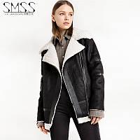 женская зима овечьей шерсти куртка из замши короткий параграф, фото 1