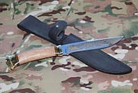 Нож с фиксированным клинком Горностай,Ручная работы +кожаный чехол ,супер качество