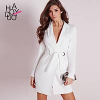 Осень-зима женская одежда новая рубашка платье Европейский и американский мода V воротник