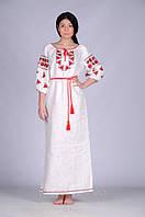Довге плаття вишите народне традиційне Ружа
