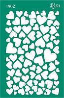 Трафарет многоразовый самоклеющийся фоновый № 1402 «Влюбленные сердца» 13х20 см Rosa Talent
