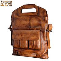 Vinny натуральная воловья кожа мужская сумка 5 в 1 ,  3 цвета
