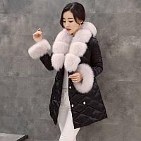 2016 новой корейской версии роскошные настоящий Лисий мех вниз куртка женщин длинный участок тонкий утолщение большой меховой воротник зимние пальто, фото 1