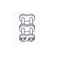 Соединительное звено со шплинтами для двойной цепи