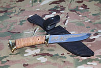 Нож с фиксированным клинком риф,Ручная работы +кожаный чехол ,супер качество