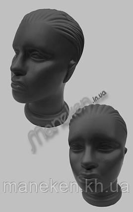 Манекен объемный голова женская черная, фото 2