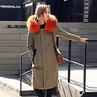 Европы 2016 зима новый большой женской одежды в длинный участок с капюшоном цвет реальный мех воротник-линии мода вниз куртки женщин