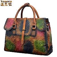 Винни. натуральная кожа женская сумка винтаж 3 цвета, фото 1