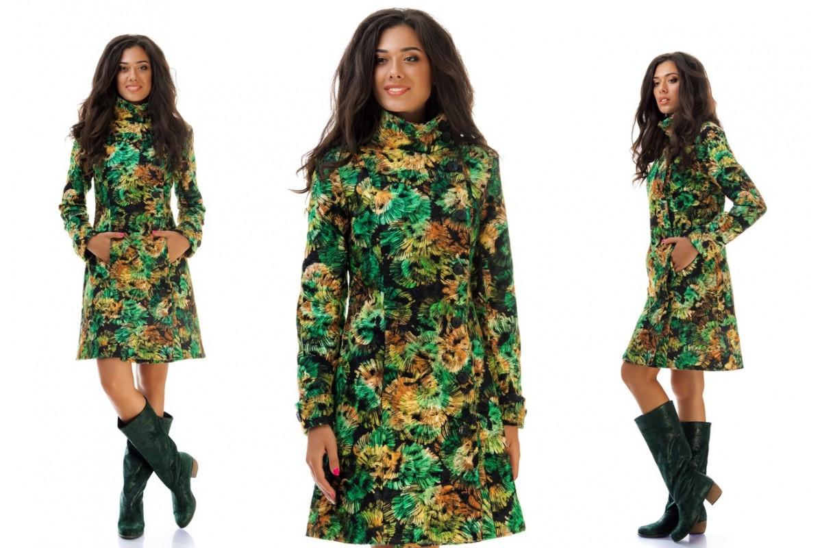90603576af870 Женское пальто кашемир+шерсть Абстракция S, M, L. - Интернет-магазин