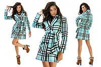 Женское пальто кашемир клетка Burberry   S, M, L.