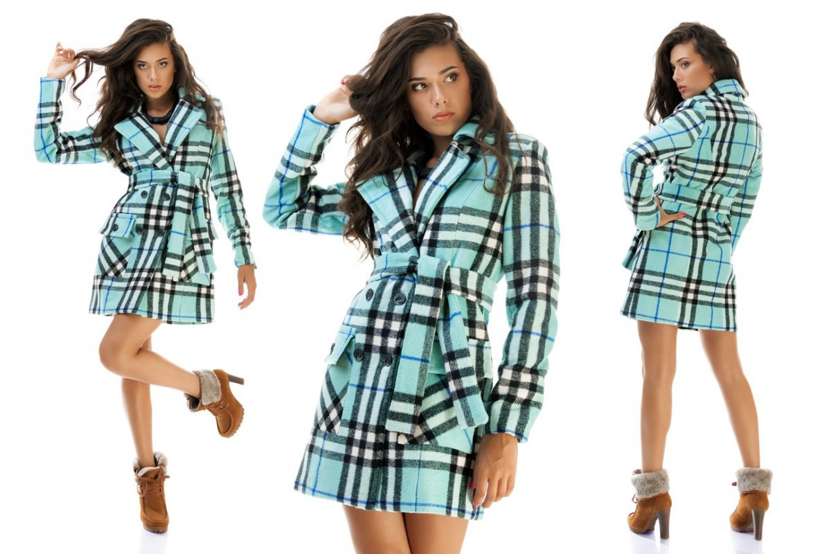 c0cf7cfd76da9 Женское пальто кашемир клетка Burberry S, M, L. - Интернет-магазин ОПТОМ