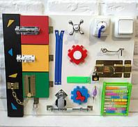 "Развивающая доска для детей ""Busy Board"", по методики Монтессори, размер  50х40, материал ДСП ламини"
