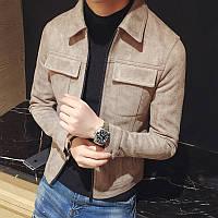 Малуда зимней одежды корейской версии мужские замша кожа флис молодежный приталенный Fit куртка мужской утолщенный лацкан пальто куртка мужская