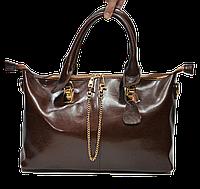Стильная женская сумка из натуральной кожи коричневого цвета GRI-166551