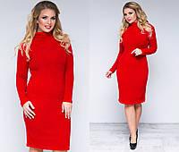 Женское  зимнее утепленное Платье ангора рубчик   р 48-50 и 50-52