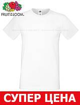 Мужская Футболка Мягкая Fruit of the loom Белый 61-412-30 S, фото 3