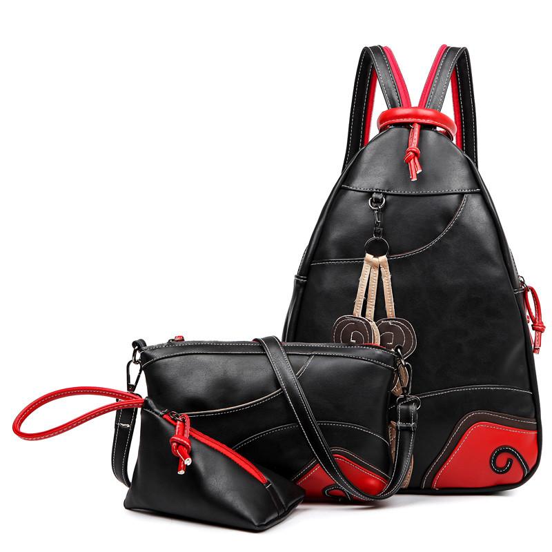 7670509efb7f Йа Хан Европе и Америке мода 2016 года три-кусок набор кисточка рюкзак  груди пакет