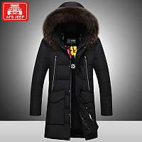 Поле боя джип молодые вниз длинные участки куртка мужской корейская версия приталенный Fit зима новый утолщенной тонкий Fit теплый пальто