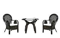 """Чайный комплект ротанговой мебели для терасы """"Самбир"""" (столик+2 кресла)"""