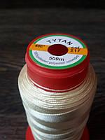 Нитка швейная TYTAN N40 217 цвет бежевый 500м. Турция