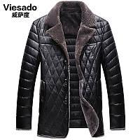 Вэй Са степень 2016 новый среднего возраста мужчин зимнее пальто толстый плюс бархат 40-50 лет папа установленный искусственная кожа пальто хлопка