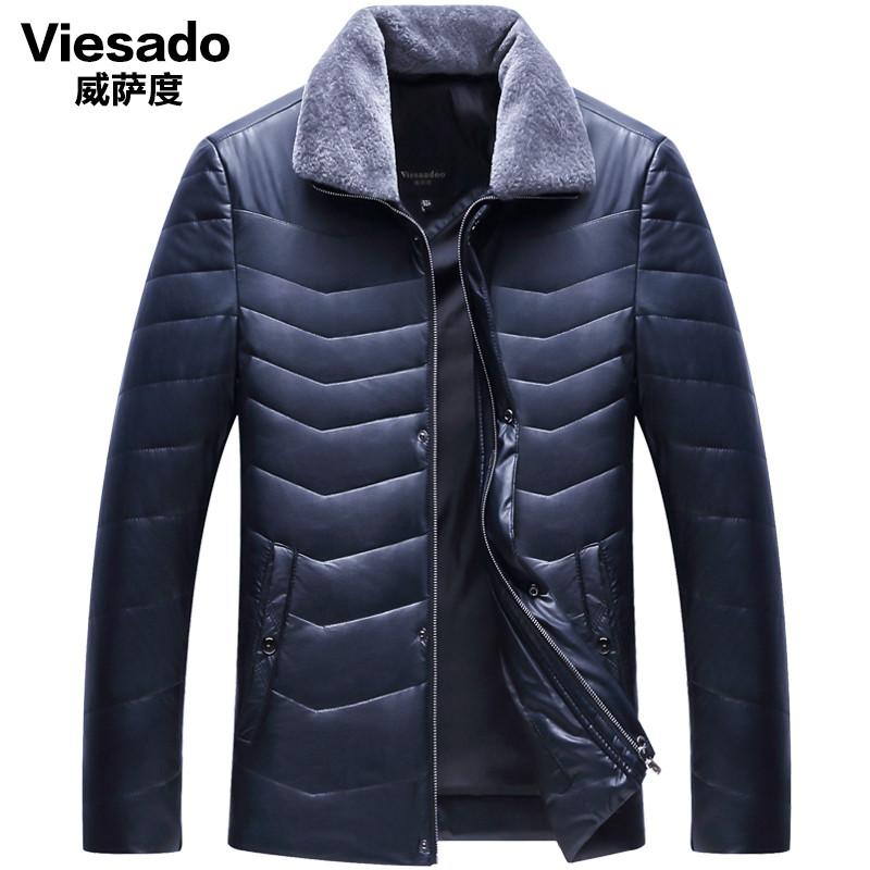 57a1c4b7979f9 Мужская зимняя одежда ПУ кожаная куртка пальто среднего возраста лацкан -  Интернет-магазин
