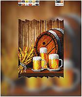 "Схема для вышивки бисером ""Пивоварня"", на холсте А4"