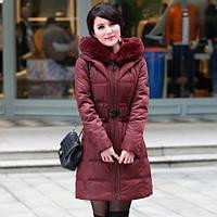 Снег теплый марка дамы среднего возраста и пожилых людей вниз куртка женщин длинный участок толстый-сезон распродажа тонкий Fit мама установила 78