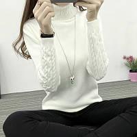 Новая зимняя женская одежда Хан издание свитер женский дна рубашки закрутки головы рукав тонкий был тонкий вязать свитер
