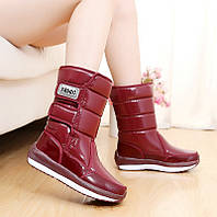 Зима новый короткие сапоги плюс бархат снег сапоги водонепроницаемый толстый теплый хлопок обувь женские сапоги в пробку толстым дном обувь студенты