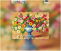 """Схема для вышивки бисером """"Цветы"""", на холсте А4"""