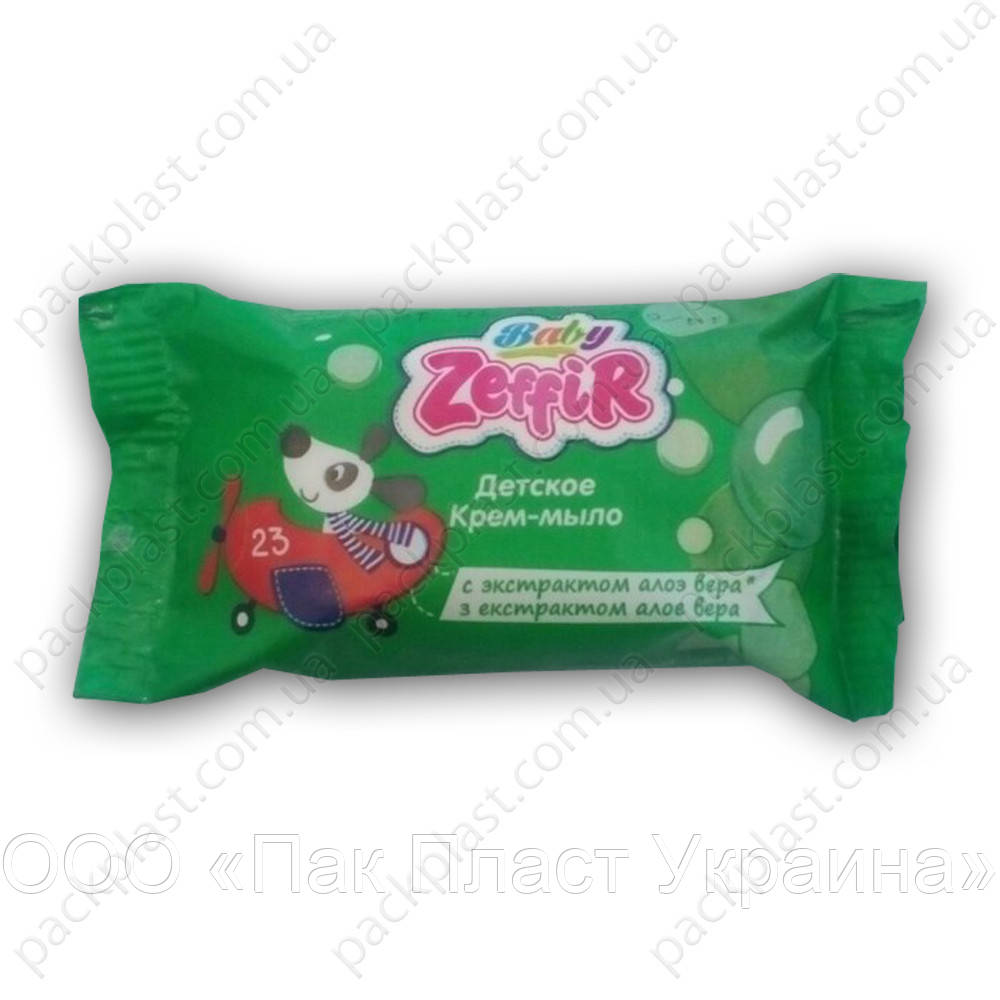 Детское крем-мыло Zeffir с экстрактом алоэ 70гр