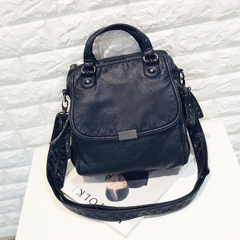 c17df4f2bbdb Женская сумка Европа и Америка мода женщины мешок мягкий кожа рюкзак 2  цвета, фото 1