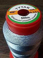 Нитка швейная TYTAN N40 351 цвет светлый джинс 500м. Турция