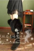 Демон кицунэ роскошные высокого класса пользовательских кожа меха весь Лисий мех над коленом длинноствольное воды бурить снегоступы женщин зимняя, фото 1