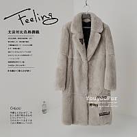 Шуба 2016 новый стиль корейской версии лацкане воротник вся кожа Рекс кролик мех трава длинный участок высокая-конец шерсть пальто женщин, фото 1