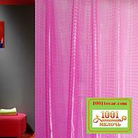 Силиконовая шторка для ванной комнаты с 3D эффектом, размер 180х180 см., розовая