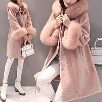 2016 новый зима корейской версии большой меховой воротник кружева тонкий подходит стрижка овец шуба в длинный участок женского