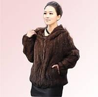 Случайные с капюшоном норки трикотажные шуба норки волос с капюшоном меха меха женская жилет женщин шаль корейской версии, фото 1