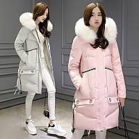 Новая зимняя одежда большой меховой воротник куртка женщин
