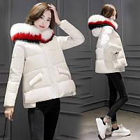 Зимняя одежда 2016 Новый Женский корейской версии свободные короткий параграф пуховик женщин белая Лиса меховой воротник пальто вниз одежды короткий, фото 1