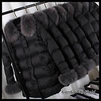 Южная Корея 2016 новый Лисий мех большой меховой воротник вниз длинный отрезок пальто женщин Европейской станции корейский версия плюс толстый прилив, фото 1